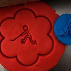33.jpg Download STL file Cookie stamp + cutter -  Hockey player IV • 3D printer model, Tvoritko