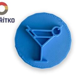 Télécharger fichier STL Timbre à biscuit + cutter - Boisson • Design pour imprimante 3D, Tvoritko