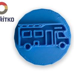 Télécharger fichier imprimante 3D Timbre à biscuit + cutter - Caravane, Tvoritko
