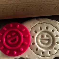 sluníčko2.jpg Télécharger fichier STL Timbre à biscuit + cutter - Soleil • Modèle pour impression 3D, Tvoritko