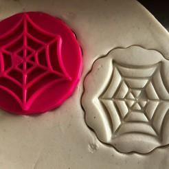 Download 3D printer designs Cookie stamp + cutter -  Spider web, Tvoritko