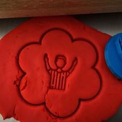 10 10.jpg Download STL file Cookie stamp + cutter -  referee • 3D printable design, Tvoritko