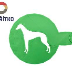 káva chrt 2.jpg Download STL file Coffee stencil - Greyhound dog 2 • 3D printer object, Tvoritko