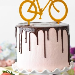 kolo zápich .jpg Download STL file Cake topper Bike • 3D printer model, Tvoritko