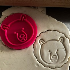 Download 3D printer files Cookie stamp + cutter -  Teddy bear, Tvoritko