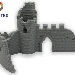 723.jpg Download STL file Castle decoration for the aquarium or for modelers • 3D print model, Tvoritko