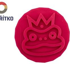 žabák.jpg Download STL file Cookie stamp + cutter -  Frog • 3D printing template, Tvoritko