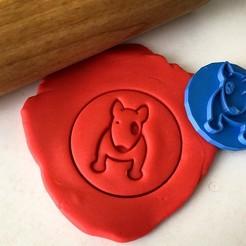 razítko 55.jpg Télécharger fichier STL Timbre à biscuit + cutter - Bullterrier anglais V • Plan pour imprimante 3D, Tvoritko