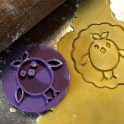 kiře.jpg Download STL file Cookie stamp + cutter -  Chick,Chicken 2 • 3D print object, Tvoritko