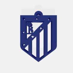 Télécharger objet 3D Porte-clés du bouclier de l'Atlético de Madrid, elobatovivar