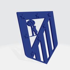 Descargar Archivo Stl Escudo Del Atletico De Madrid Stl Modelo Para La Impresora 3d Cults