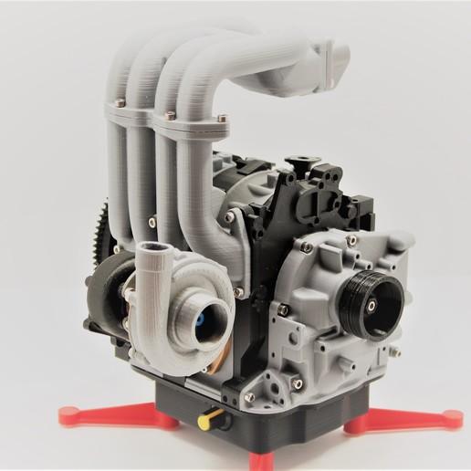 Descargar STL gratis Motor rotativo Mazda RX7 Wankel 13B-REW - Modelo de trabajo, 3D_Printed_Engines