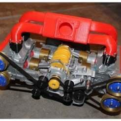 Descargar diseños 3D gratis Subaru EJ20 modelo seccionado, 3D_Printed_Engines