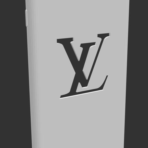 Télécharger objet 3D gratuit Housse iPhone 7/8 Plus avec logo LV sottration, MiGiranoForte