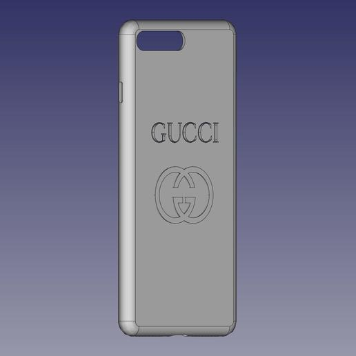 CoverGucci.jpg Download free STL file Cover iPhone 7/8 plus with logo GG • 3D printable model, MiGiranoForte