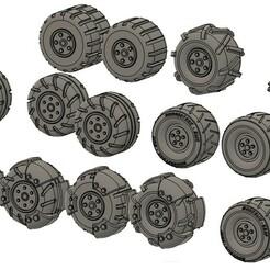 Wheel 1.jpg Download STL file Wheel Pack #1 • 3D printing template, HandsomeFred