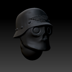 Cattura.PNG Download STL file Diselpunk Helmet 28mm • 3D printable object, HandsomeFred