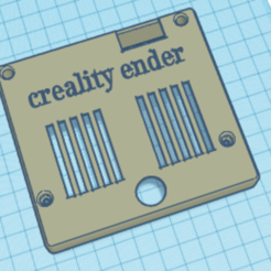 tapa.png Download STL file cover ender 3,ender 5 of screen • 3D printer object, KrAkEn