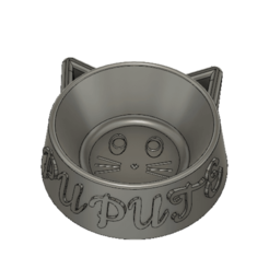 Descargar diseños 3D tazón de gato, gege5614