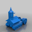 Download free STL files Ork / Orc Halftrack with large cannon / Assault gun, redstarkits