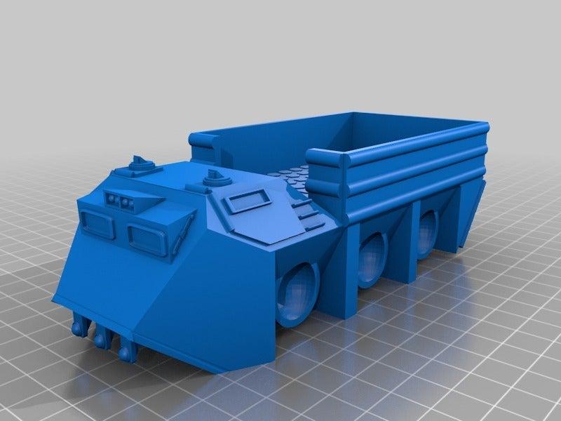 58c138fe6b1c7f98e47b4f5c50e25dc2.png Télécharger fichier STL gratuit Véhicule utilitaire à fourmis à plat pour la fabrication de wargames ou de mdel de science-fiction de 28 mm • Modèle pour imprimante 3D, redstarkits
