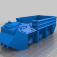 Download free STL file Flat bed ant utility vehicle for 28mm sci-fi wargames or sci-fi mdel making • 3D printable model, redstarkits