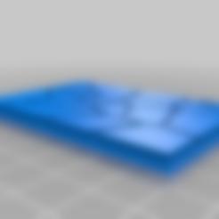 GW_style_50mm___75mm_rectangle_Cracks_4.stl Download free STL file 75mm * 50mm rectangular Base for wargames Warhammer fantasy battle • 3D printable object, redstarkits