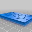 GW_style_50mm___75mm_rectangle_Cracks_3.png Download free STL file 75mm * 50mm rectangular Base for wargames Warhammer fantasy battle • 3D printable object, redstarkits