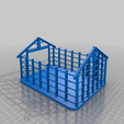 partial_storehouse_with_floor.png Download free STL file Partly constructed storage building for 28mm Sci-fi and modern era  wargamming • Design to 3D print, redstarkits