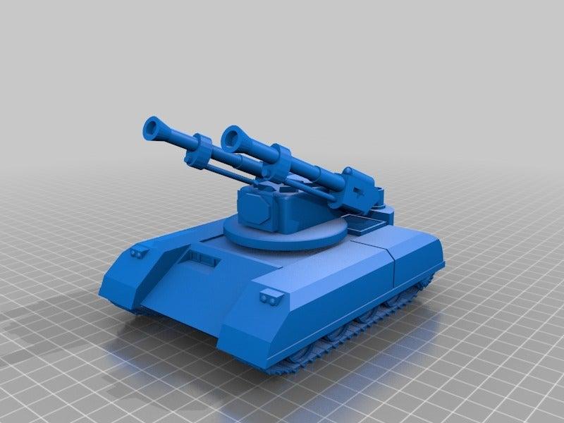 994fcc262f55dd95de7f13f83ef5b84f.png Télécharger fichier STL gratuit ork / orc Flak tank 28mm wargames véhicule • Modèle imprimable en 3D, redstarkits
