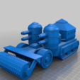 Download free STL file Orc / Ork Armoured Mobile Battle fortress halftrack • 3D print template, redstarkits