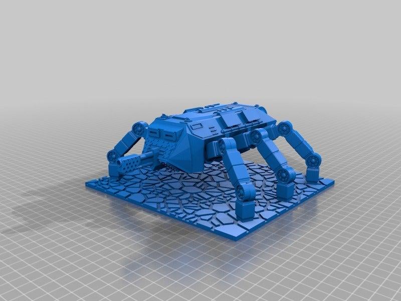 022c2da7827c179b2f71c16e55ab85bd.png Download free STL file Base for Ant Walker Scifi gaming 28mm • 3D printable design, redstarkits