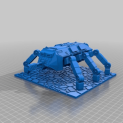 Download free 3D model Base for Ant Walker Scifi gaming 28mm, redstarkits