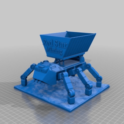 Download free 3D print files Ant with large open skip on tipper civilian  sci-fi walker, redstarkits