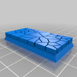 Download free 3D printing templates Cracked paving / Lava effect square bases for Dungeon saga, Kingd of war, Warhammer fantasy battle etc, redstarkits