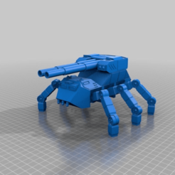 Download free 3D printer files Heavy Artillery 6 legged Ant walker for 28mm wargaming and sci-fi diorma, redstarkits