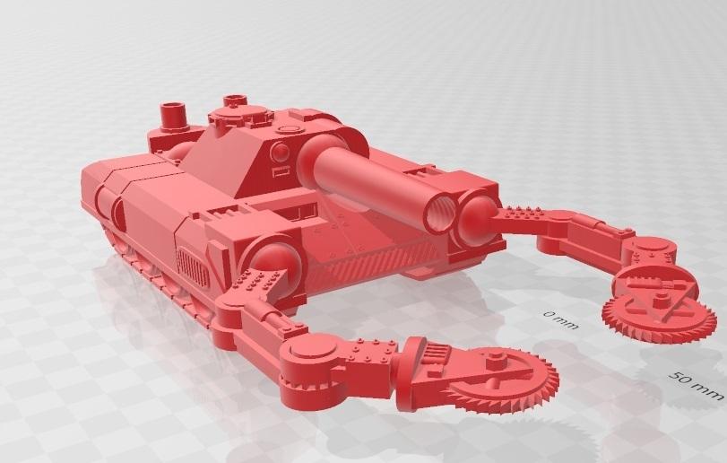 Untitleed.jpg Télécharger fichier STL Ork Tank / Canon d'assaut 28mm optimisé pour FDM Printing • Modèle pour imprimante 3D, redstarkits