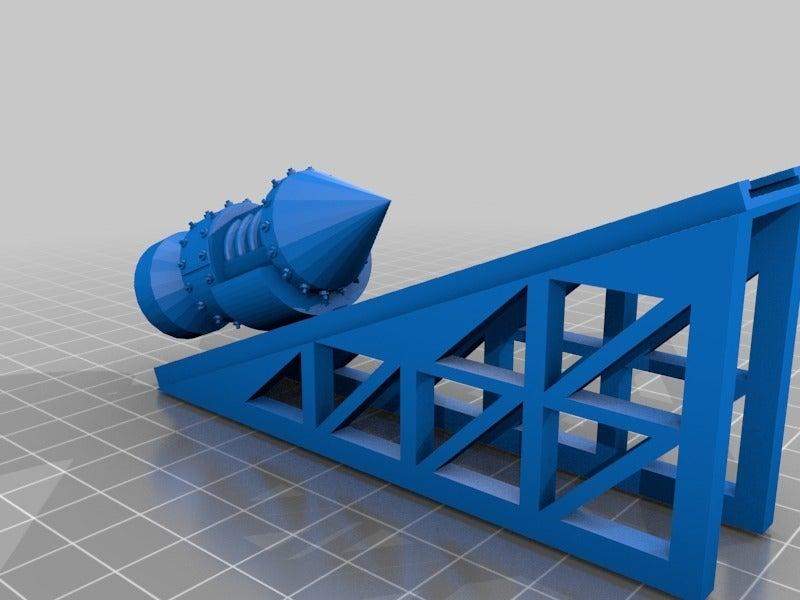 e3021d61fa3e40b726ccd38f706b90ef.png Télécharger fichier STL gratuit Ork / Ork Pulse Rocket Artillery pour les jeux de science-fiction 28mm • Design imprimable en 3D, redstarkits