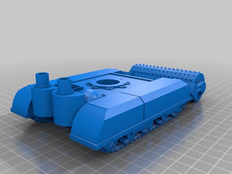 """8df25a3ceb946084d1b5949e7d46c7a5.png Télécharger fichier STL gratuit Ork / Orc Tank """"Bone Breaker"""" 28mm wargames véhicule • Plan pour impression 3D, redstarkits"""