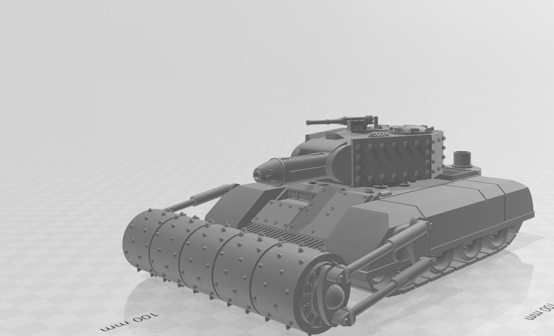 Untitled.jpg Télécharger fichier STL Ork Tank / Canon d'assaut 28mm optimisé pour FDM Printing • Modèle pour imprimante 3D, redstarkits