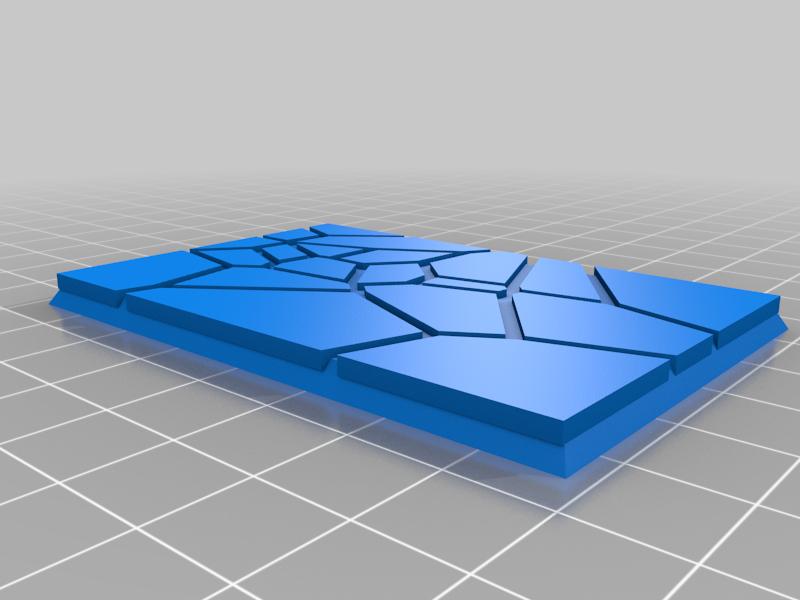 GW_style_50mm___75mm_rectangle_Cracks_4.png Download free STL file 75mm * 50mm rectangular Base for wargames Warhammer fantasy battle • 3D printable object, redstarkits
