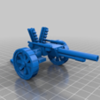 Download free 3D printer templates Ork / Orc Kannon / Sci-fi field gun 28mm wargaming, redstarkits