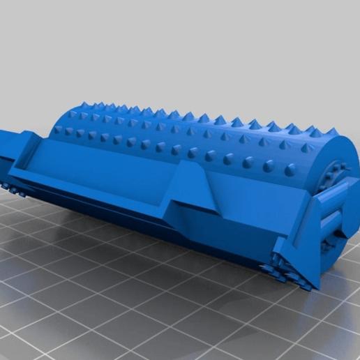 """33c76f7bd6f7b599374689994c530bd4.png Télécharger fichier STL gratuit Ork / Orc Tank """"Bone Breaker"""" 28mm wargames véhicule • Plan pour impression 3D, redstarkits"""