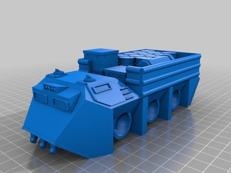 d010c543bea0f41a492913c2194765b3.png Télécharger fichier STL gratuit Véhicule utilitaire à fourmis à plat pour la fabrication de wargames ou de mdel de science-fiction de 28 mm • Modèle pour imprimante 3D, redstarkits