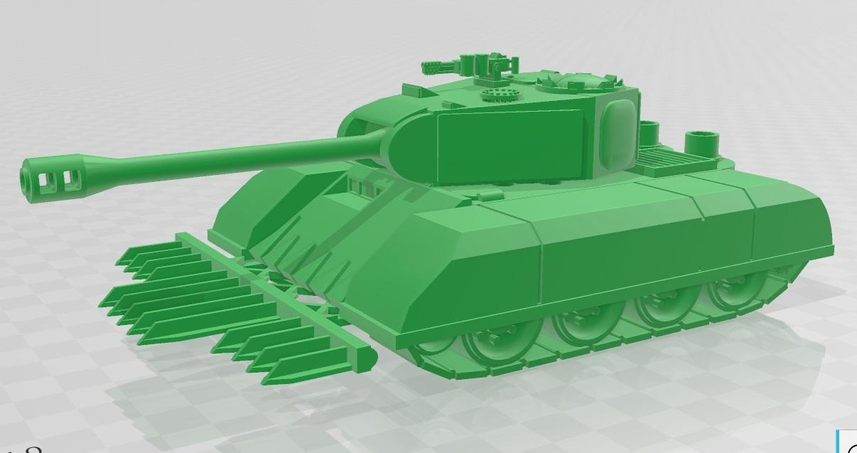 Untitleeed.jpg Télécharger fichier STL Ork Tank / Canon d'assaut 28mm optimisé pour FDM Printing • Modèle pour imprimante 3D, redstarkits