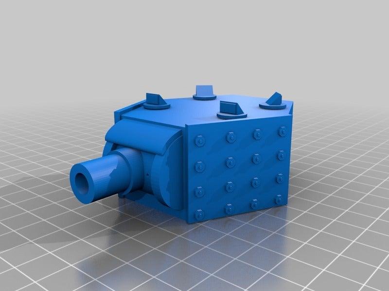 b652cd862f4aa93508f573c36d50014c.png Download free STL file Heavy Mortar turret for 28mm wargames. Warhammer, warpath ect • 3D print object, redstarkits