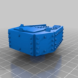 Download free STL file Orc / Ork Armoured Tank with long barrel Cannon • 3D printing object, redstarkits