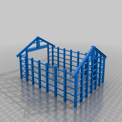 partial_storehouse.png Download free STL file Partly constructed storage building for 28mm Sci-fi and modern era  wargamming • Design to 3D print, redstarkits