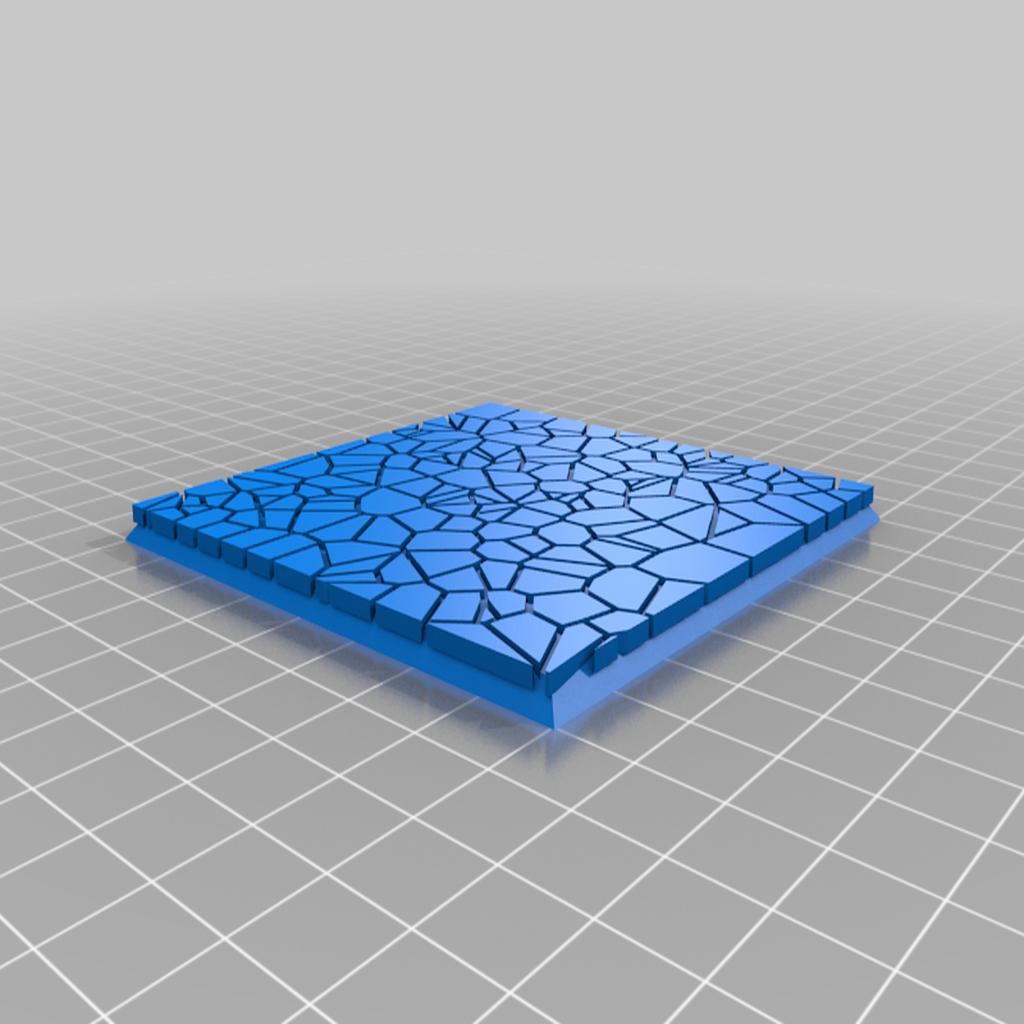 Cracked_Paving__80mm_square_3.png Télécharger fichier STL gratuit Dallage fissuré / Bases carrées à effet de lave pour la saga Dungeon, Kingd of war, Warhammer fantasy battle etc • Objet imprimable en 3D, redstarkits