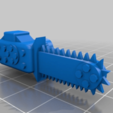 Download free 3D printer model Option Weapons and head for Slasher Gargant proxy for 6mm Epic scale warhammer 40,000 / Titan legions, redstarkits